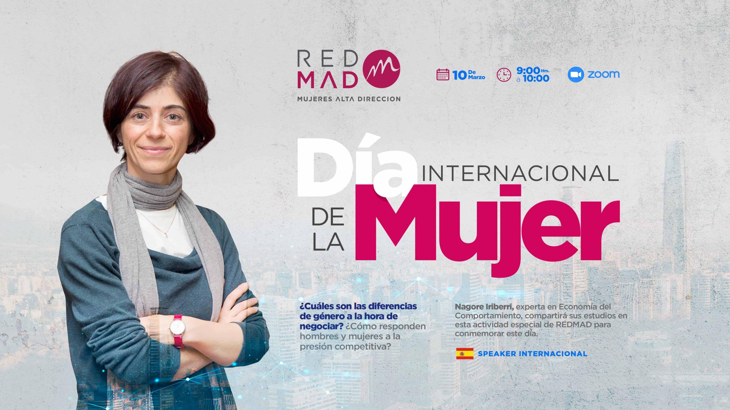 Día Internacional de la Mujer en REDMAD: Revisa la presentación de Nagore Iriberri, experta en Economía del Comportamiento